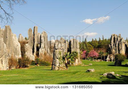 Stone forest (Shinlin) in Kunming, Yunnan, China.