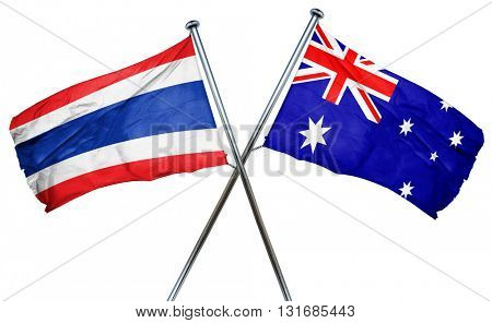 Thailand flag  combined with australian flag