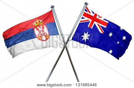 Serbia flag  combined with australian flag