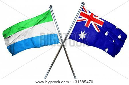 Sierra Leone flag  combined with australian flag