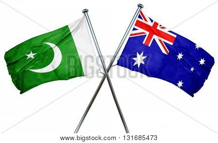 Pakistan flag  combined with australian flag