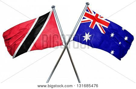 Trinidad and tobago flag  combined with australian flag