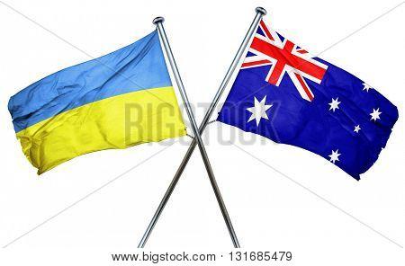Ukraine flag  combined with australian flag