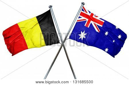 Belgium flag  combined with australian flag