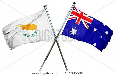 Cyprus flag  combined with australian flag