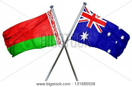 Belarus flag  combined with australian flag