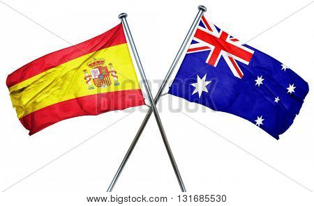Spanish flag  combined with australian flag