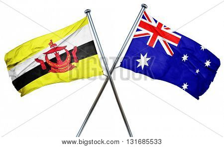 Brunei flag  combined with australian flag