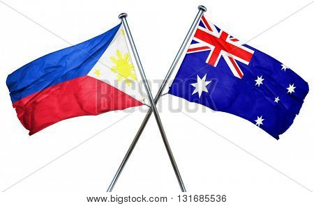 Philippines flag  combined with australian flag