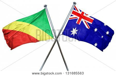 Congo flag  combined with australian flag