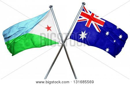 Djibouti flag  combined with australian flag