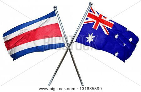 Costa Rica flag  combined with australian flag