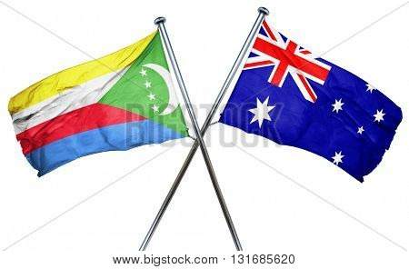 Comoros flag  combined with australian flag