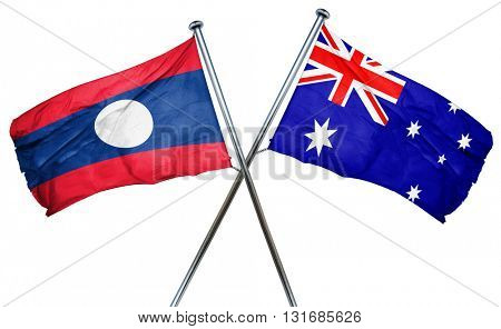 Laos flag  combined with australian flag