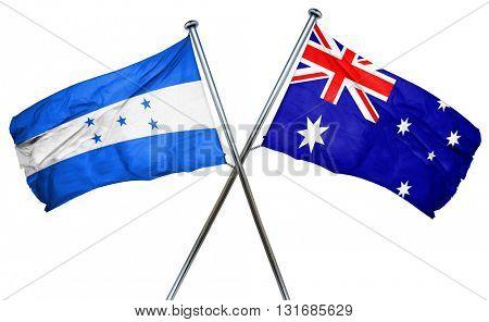 Honduras flag  combined with australian flag