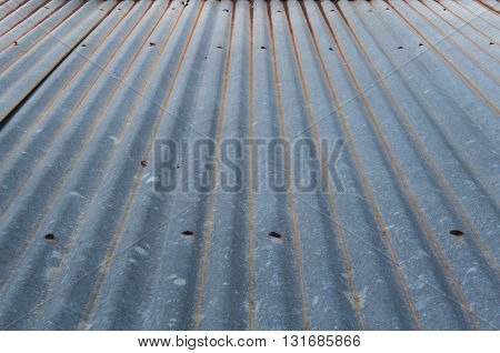 Old galvanized sheet some rust and began to decay chart
