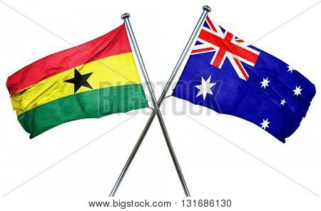 Ghana flag  combined with australian flag
