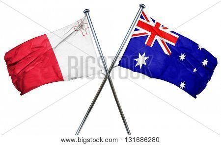 Malta flag  combined with australian flag