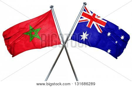 Morocco flag  combined with australian flag