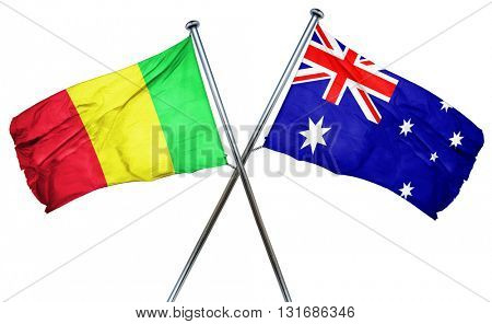 Mali flag  combined with australian flag