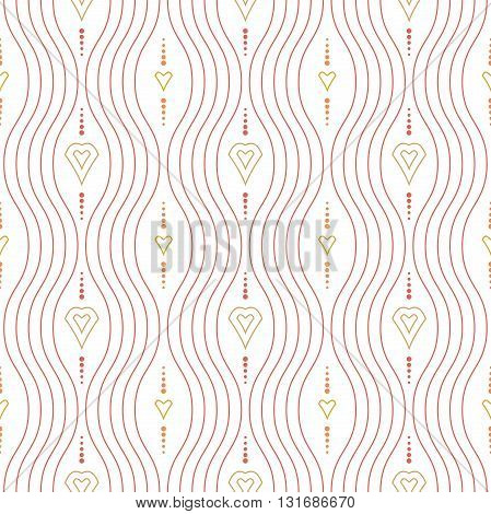 Seamless vector ornament. Modern geometric pattern with repeating elements