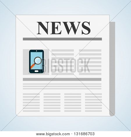 News concept with icon design, vector illustration 10 eps graphic.