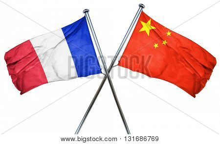 France flag  combined with china flag