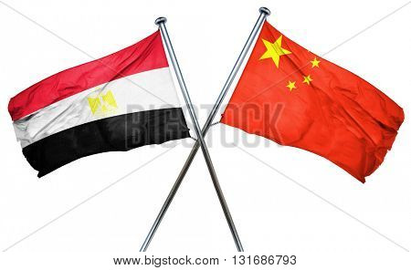 Egypt flag  combined with china flag