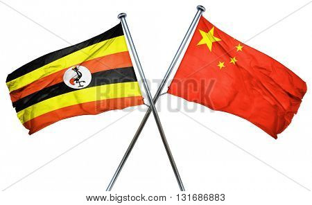 Uganda flag  combined with china flag