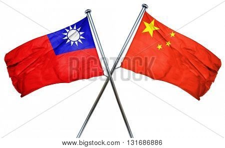 Republic of china flag  combined with china flag