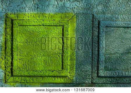 Yellow And Blue Metal Wall
