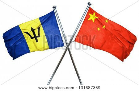 Barbados flag  combined with china flag