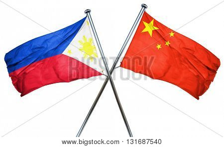 Philippines flag  combined with china flag
