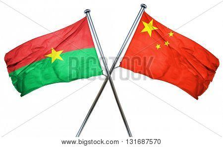 Burkina Faso flag  combined with china flag