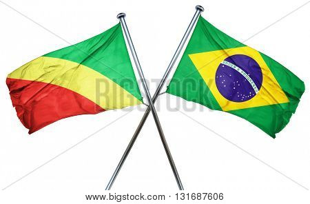 Congo flag  combined with brazil flag