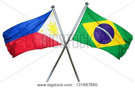 Philippines flag  combined with brazil flag