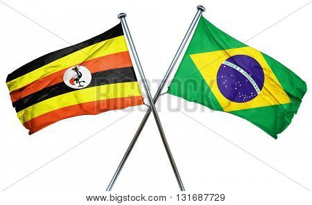 Uganda flag  combined with brazil flag