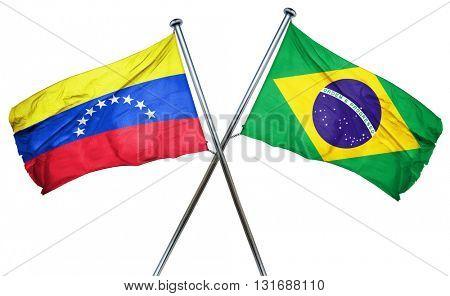 Venezuela flag  combined with brazil flag