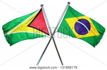 Guyana flag  combined with brazil flag