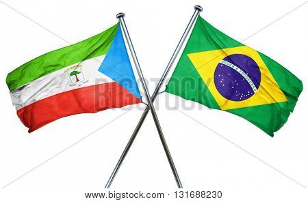 Equatorial guinea flag  combined with brazil flag