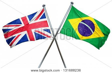 Great britain flag  combined with brazil flag