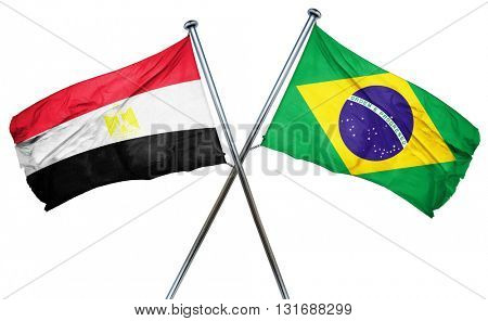 Egypt flag  combined with brazil flag