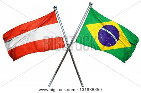 Austria flag  combined with brazil flag