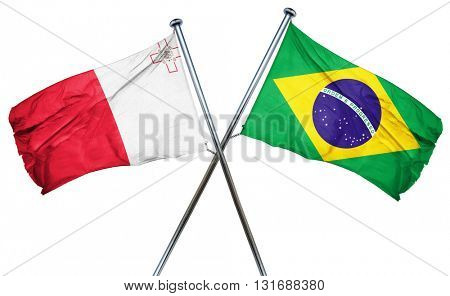 Malta flag  combined with brazil flag