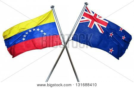 Venezuela flag  combined with new zealand flag