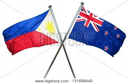 Philippines flag  combined with new zealand flag
