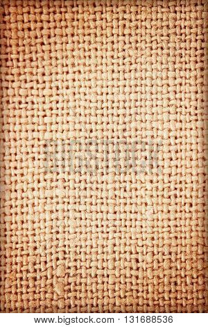 The sackcloth textured background. pattern or  background