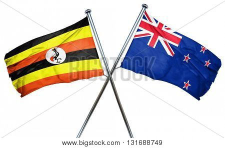 Uganda flag  combined with new zealand flag
