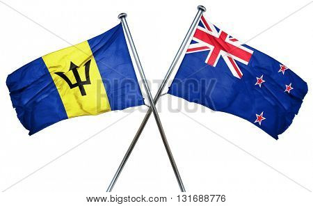 Barbados flag  combined with new zealand flag
