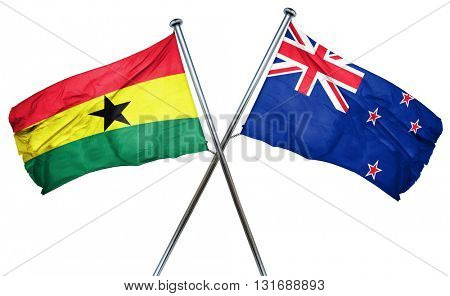 Ghana flag  combined with new zealand flag